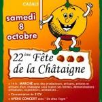 Soyons nombreux à la 22 édition de la fête de la châtaigne le samedi 8 octobre à Saint Caprais en Quercy 46250 à 8Kms de Cazals et de la Dordogne !