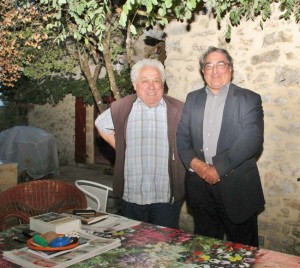 Le professeur Edmond Jouve et Osvaldo Villar